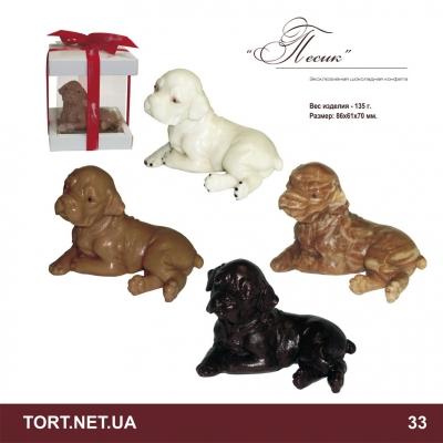 Собачка из шоколада_2