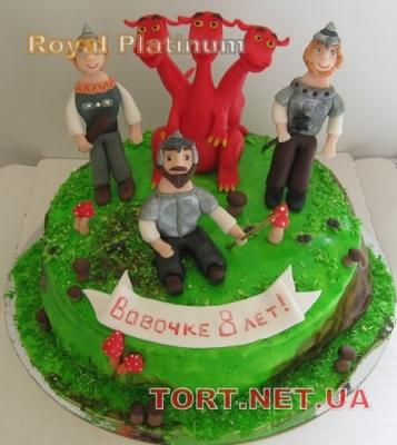 Торт Три богатыря_2
