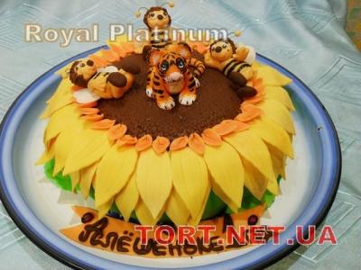 Торт Тигренок на подсолнухе_3