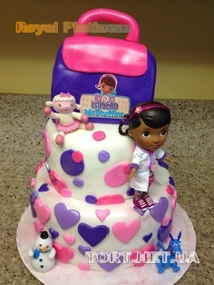 фото торт доктор плюшева