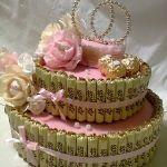 Свадебная композиция из конфет_2