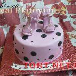 Торт женская туфелька_10