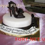 Торт женская туфелька_13