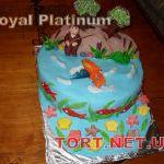 Торт Золотая рыбка_4