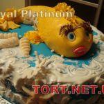 Торт Золотая рыбка_6