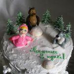 Торт Маша и медведь_23