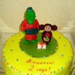Торт Крокодил Гена и Чебурашка_11