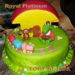Торт Крокодил Гена и Чебурашка_9