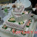 Свадебный торт из крема_12