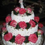 Свадебный торт из крема_13