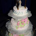 Свадебный торт из крема_14