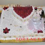 Свадебный торт из крема_17