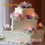 Свадебный торт из крема_23