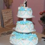 Свадебный торт из крема_24