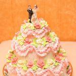 Свадебный торт из крема_2