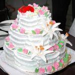 Свадебный торт из крема_4
