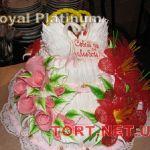 Свадебный торт из крема_8