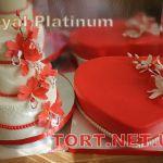 Свадебный торт Сердце_11