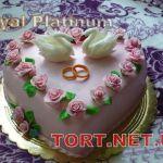 Свадебный торт Сердце_16