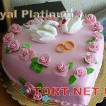 Свадебный торт Сердце_21