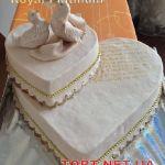 Свадебный торт Сердце_6