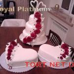 Свадебный торт Сердце_7