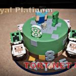 Торт Minecraft (Майнкрафт)_12