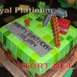 Торт Minecraft (Майнкрафт)_14