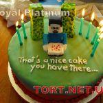Торт Minecraft (Майнкрафт)_22