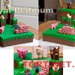 Торт Minecraft (Майнкрафт)_23