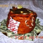 Торт Мешок с деньгами_12