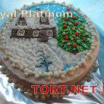 Зимний торт на Новый год_15