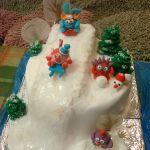 Зимний торт на Новый год_4
