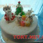 Зимний торт на Новый год_7