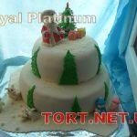 Зимний торт на Новый год_8