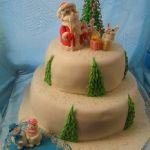 Зимний торт на Новый год_9